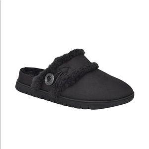 Easy Spirit Black Slippers